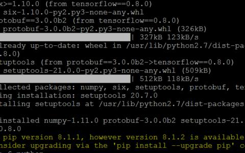 采用ubuntu系统来安装tensorflow