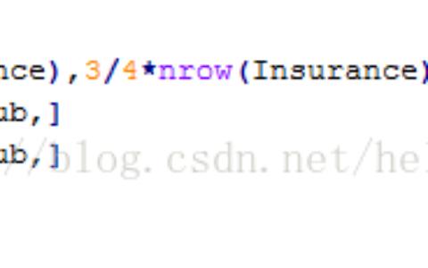 R语言--数据抽样的实现