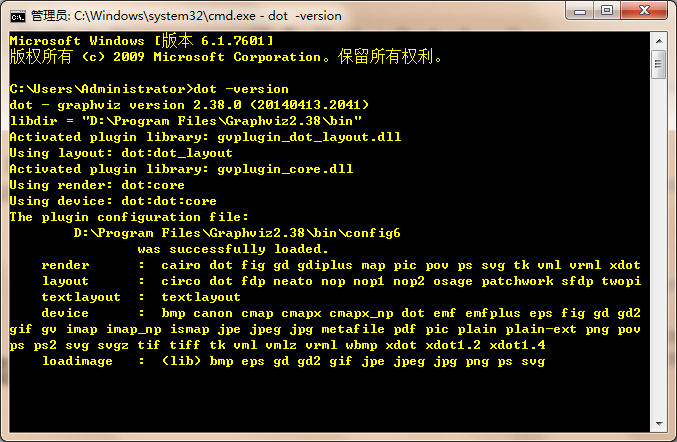 windows下Graphviz安装及入门教程