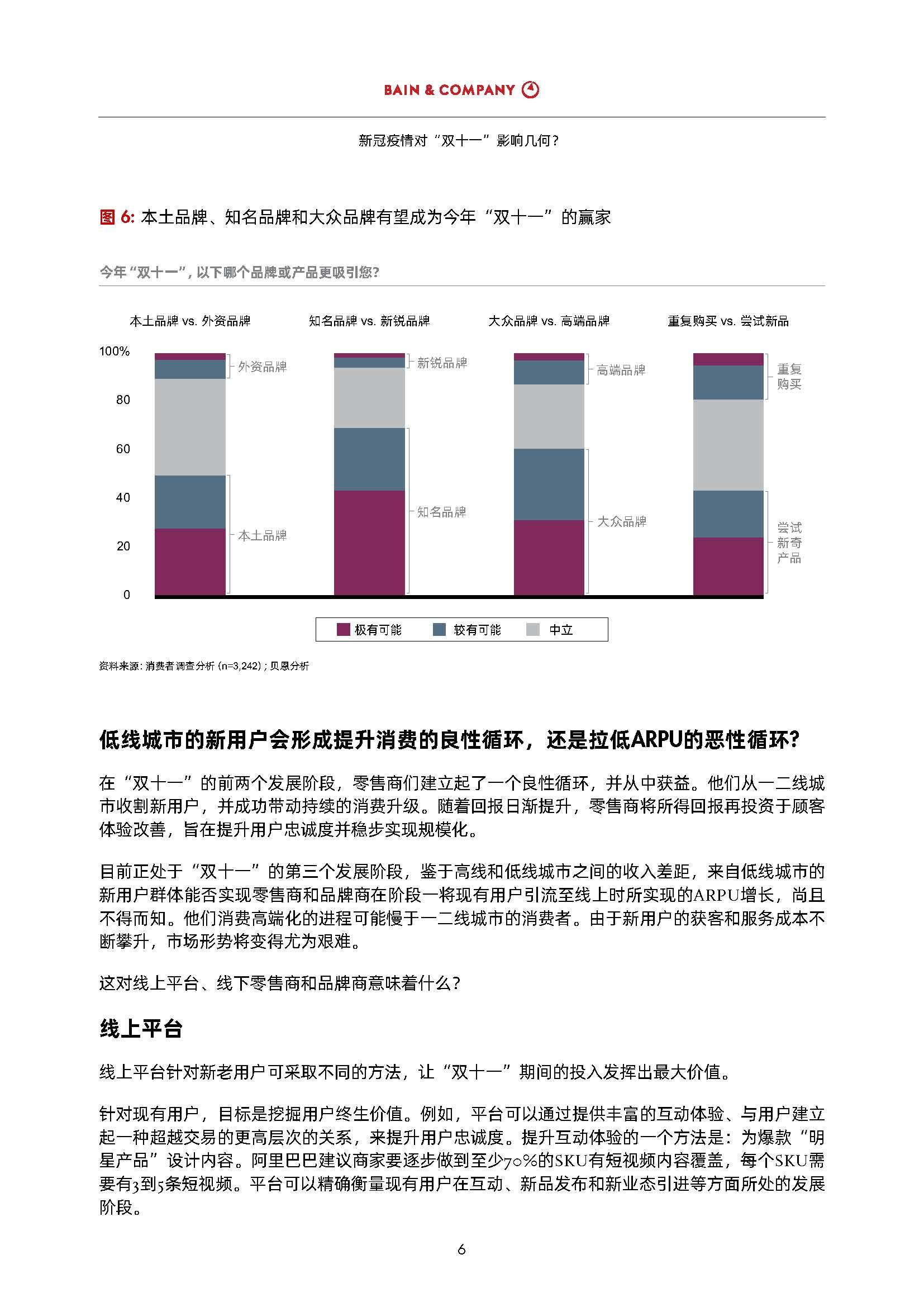 """大数据研究报告,贝恩-疫情后的首个""""双十一"""":中国零售商和品牌商的年度关键之战(中英)!"""