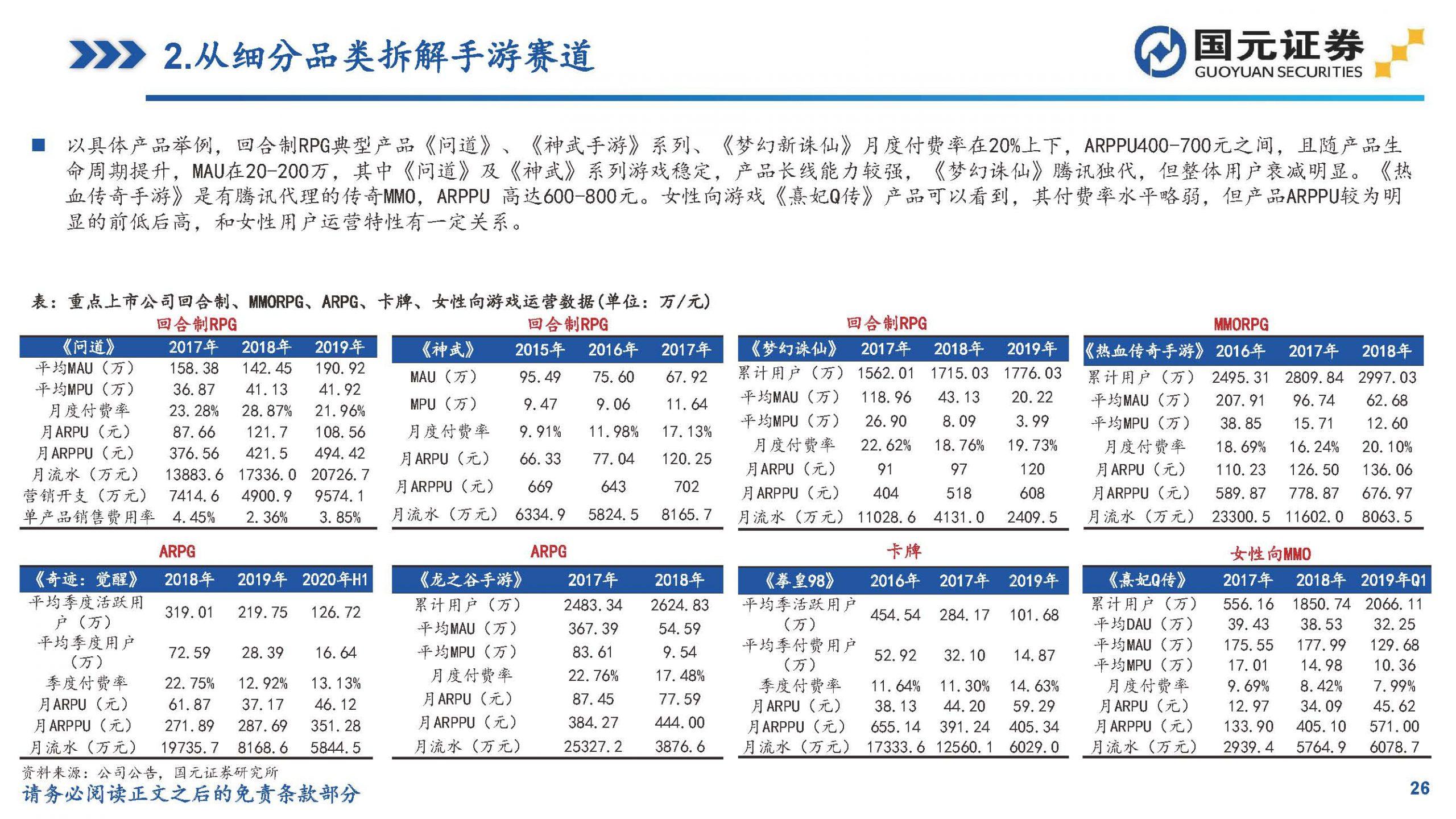 大数据研究报告,国元证券-深度剖析移动游戏市场,论产品、研发、买量!