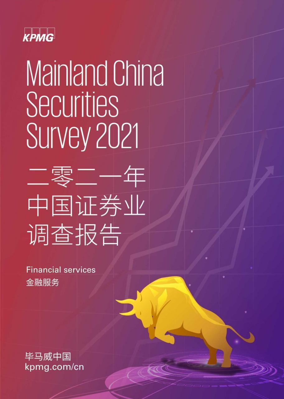 大数据研究报告,毕马威-2021年中国证券业调查报告!